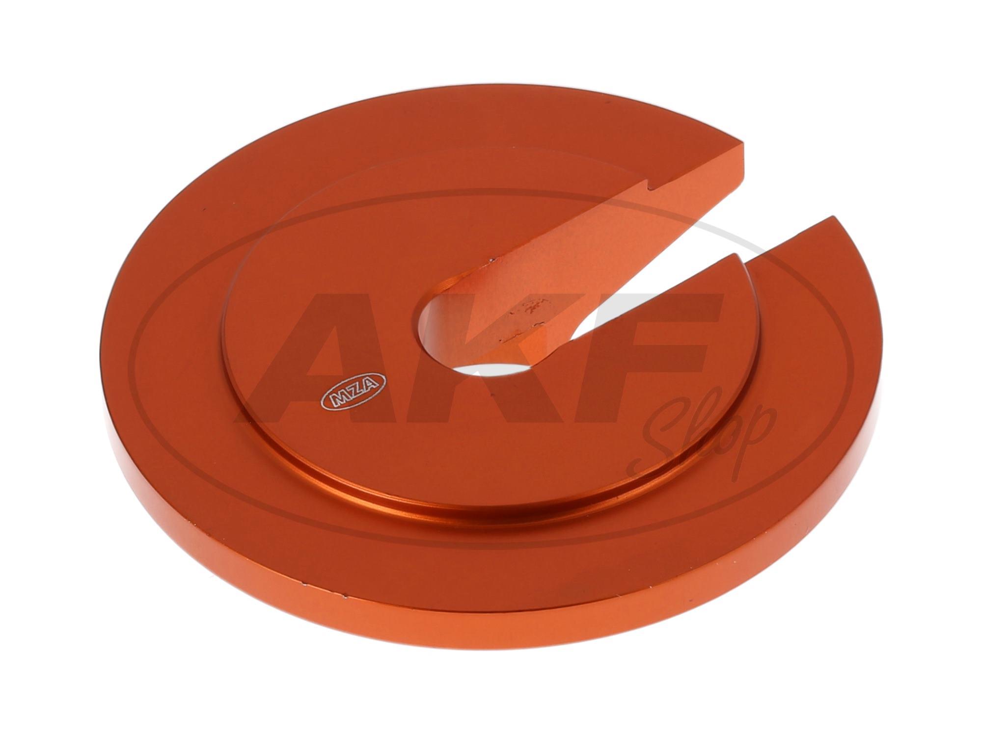 steckscheibe aluminium farbe orange f r enduro. Black Bedroom Furniture Sets. Home Design Ideas