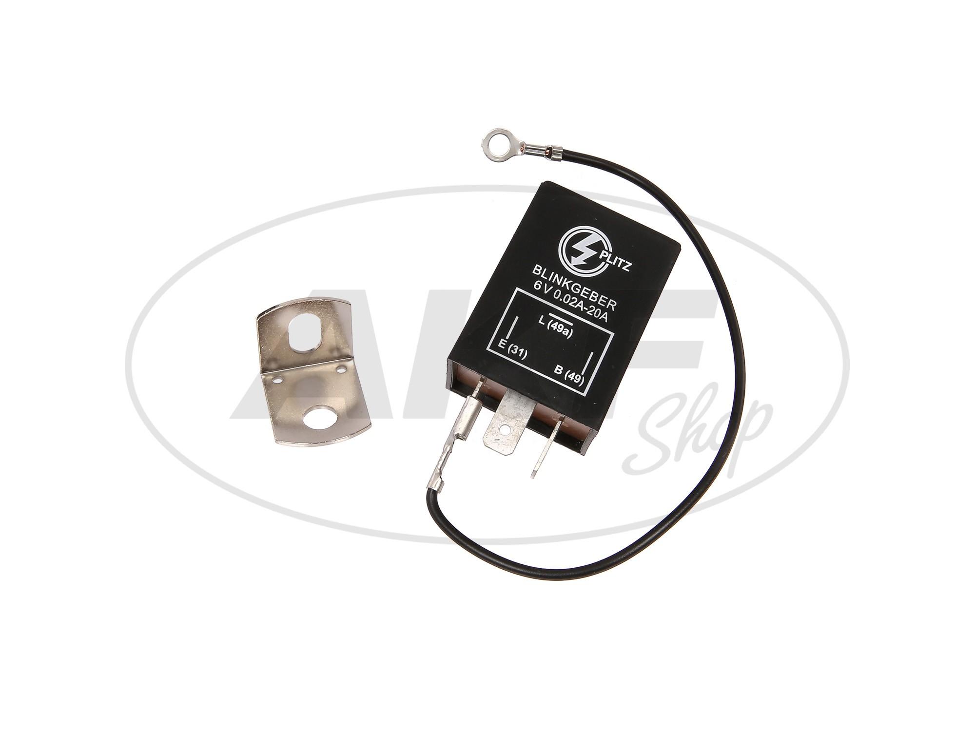 Blinkgeber, elektronisch, 6V 3-pol. Anschluss (31, 49, 49a ...