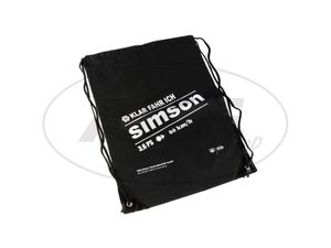 Item Image Retro Sports Bag, Black, Motif 3,6PS 60km / h Drawstring closure