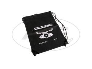 Item Image Retro sports bag, black, motive swallow, drawstring closure