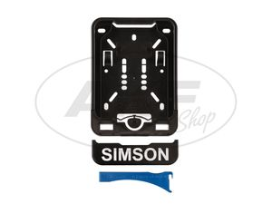 Item Image Removable license plate holder with imprint SIMSON