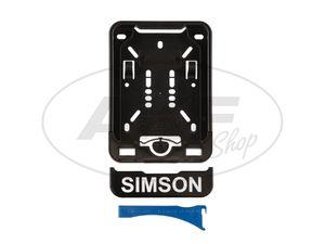 Wechsel-Kennzeichenhalterung mit Aufdruck SIMSON -  Bild 1