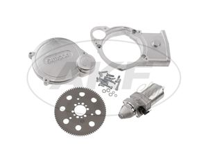 Set: Elektrostarter, Anlasser für PVL + EMZA Zündungen, M531, M541, M743 - Simson S51, S70, S53, S83, SR50, SR80, SD50 -  Bild 1