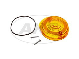 Item Image Headlight cap, round, orange incl. Rubber seal + screws - Simson S50, S51, S70, SR50, SR80 - MZ ETZ, TS
