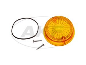 Item Image Rear headlight, round, orange incl. Rubber cover ring + screws - Simson S50, S51, S70, SR50, SR80 - MZ ETZ, TS