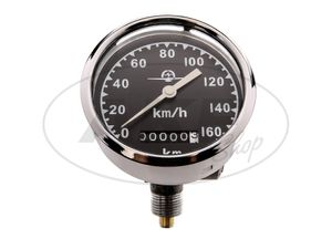 Item Image Speedometer Ø80, 0-160km / h, neutral speedometer blade - for AWO-S, AWO-T