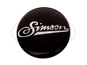 """Artikelbild Button, Anstecker """"Simson"""" weiche Schrift, Ø25 mm"""
