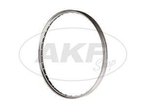 Item Image Rim - 1.35 x 22 chrome, without lettering - for Simson SR1