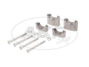 Set: Lenkerauflage untere + obere - für Simson S50, S51, S70, Enduro -  Bild 1
