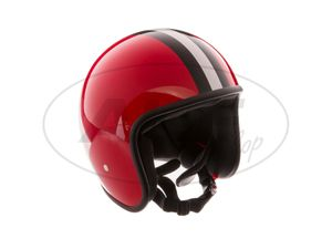 """Item Image ARC Helmet """"Model A-611"""" retro look - red with stripes"""