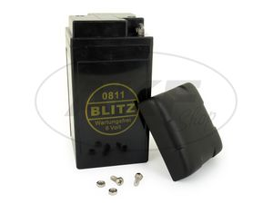 Item Image Battery 6V 12Ah BLITZ (gel - maintenance-free) with cover - Simson AWO, MZ, EMW