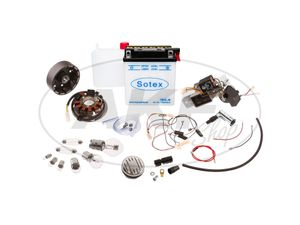 Item Image Set: Conversion kit VAPE to 12V (with battery incl. Acid pack, horn and bulbs) - Simson KR51 / 1 Schwalbe, KR51 / 2 Schwalbe