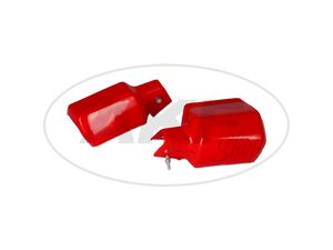 Item Image Set: 2x protector handlebar handguard in red - for MZ ETZ