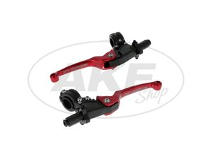 Item Image Set: brake and clutch fitting with folding lever racing red