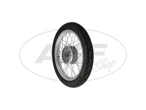 """Item Image Defective copy - complete rear wheel 1,6x16 """"alloy rim + stainless steel spokes + tires Vee Rubber 094"""