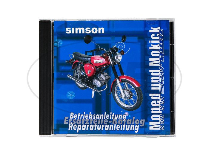 CD - SIMSON moped and Mokick original documents Simson S51, S50, SR50, SR4 - Image #1