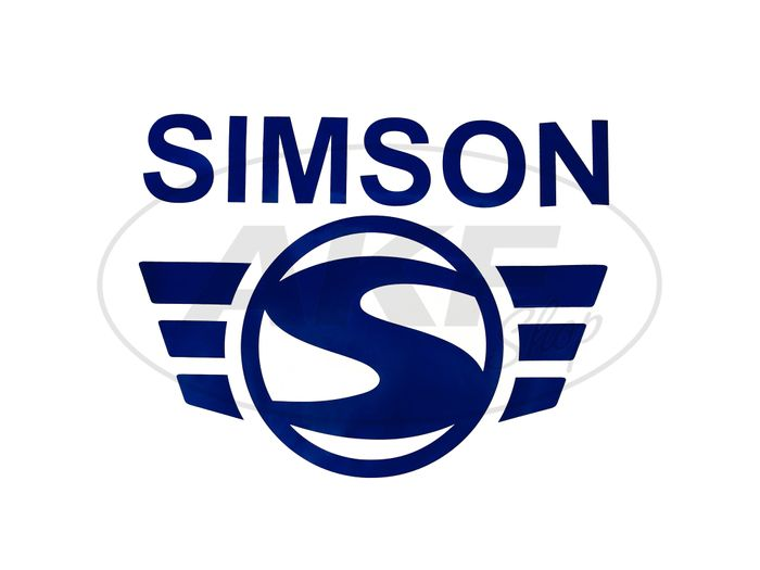 Adhesive film - SIMSON-Logo Blue 300mm wide (Folienplott) - Image #1