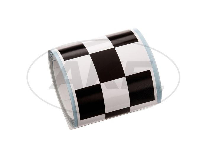 """Sticker strip """"Raceflag"""" in black and white - Image #1"""