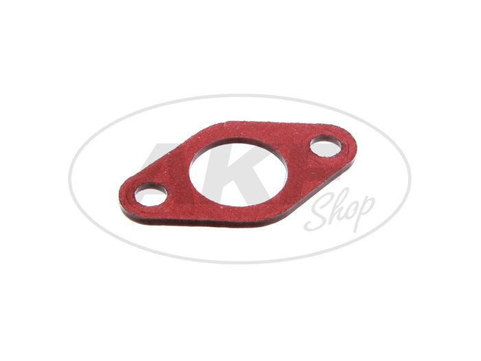 Insulating flange gasket 2mm thick, 21mm passage in red - Image #1