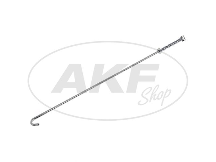 Brake rod 455mm with spring + nut, chrome - Simson S50 - Image #1