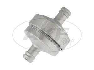 Leitungsfilter - Alu silber matt eloxiert für Benzinschlauch 7x10,5mm -  Bild 1