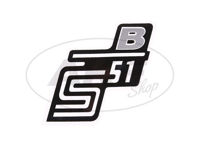 "Small lettering - ""S51 B"" silver - Image #1"