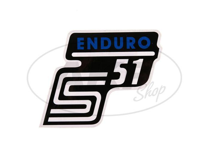 "Klebeschriftzug - ""S51 Enduro"" Blau - Bild #1"