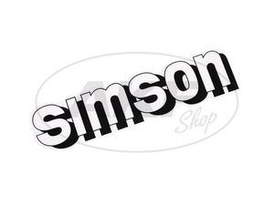 "Item Image Inscription ""SIMSON"" for tank in white"