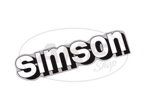 "Item Image Inscription ""SIMSON"" for tank in white / silver"