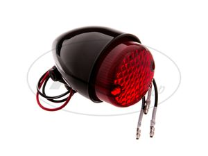 Item Image Mini taillight TEXAS black with red glass
