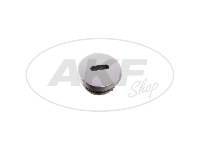 Locking screw for gearbox cover in chrome look, without O-ring - Image #1