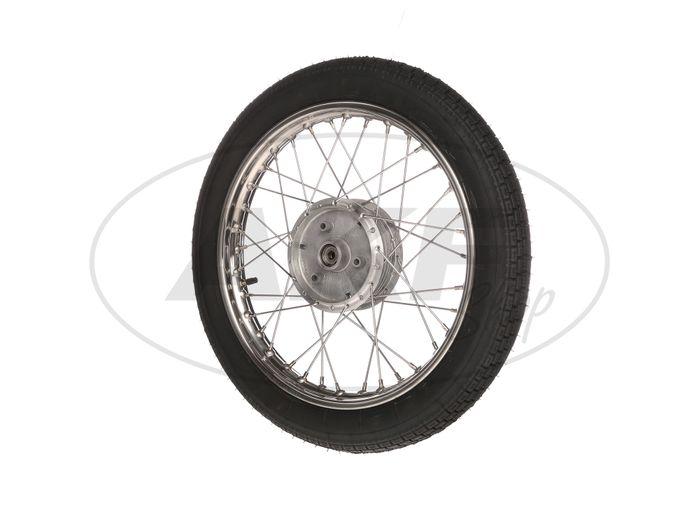 """Complete wheel 1,6x16 """"stainless steel rim + stainless steel spokes + tires Heidenau K30 - Image #1"""