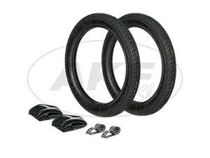 Item Image Set: 2x tires 2.75 x 16 Heidenau K30 + 2x hoses + 2x rim tape