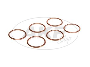 Item Image Advantage set: 6 x manifold seal copper 28x34 Simson S51, S50, SR50, swallow