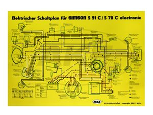 Item Image Wiring Diagram Color post (35x50cm) Simson S51, S70 C 6V Electronic
