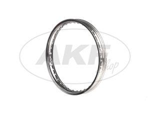 "Item Image Rim 1.5 x 16 ""polished alloy rim - Simson S50, S51, KR51 Schwalbe, SR4"