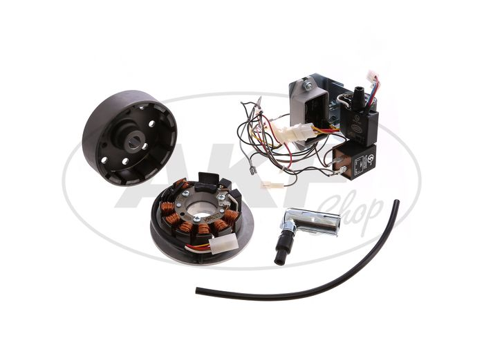 Set: Conversion kit VAPE to 12V (without battery and lamp) - Simson SR50, SR80 - Image #1