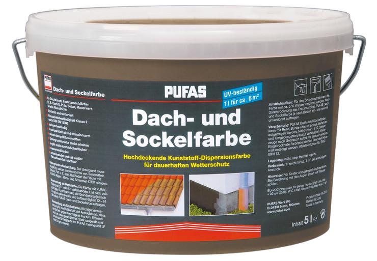 PUFAS Dach- und Sockelfarbe