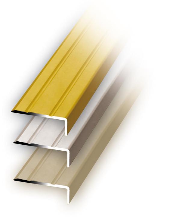 Winkelprofil Alu, Edelstahl-Optik, 100x2,5x1 cm