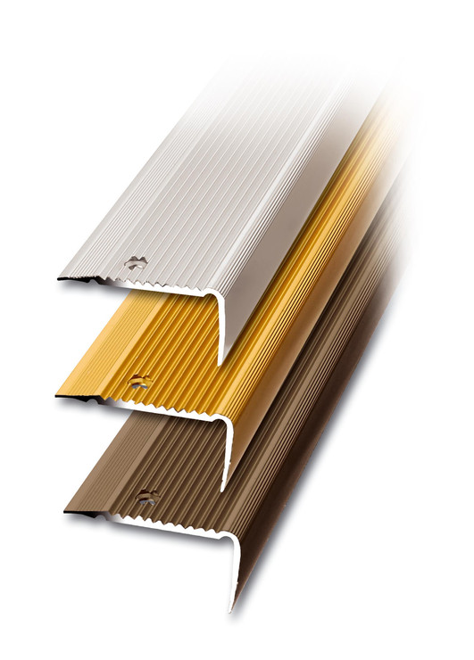 Treppenkantenprofil gerieft, 100x4,5x2,3 cm