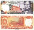 Venezuela Pick-Nr: 65f bankfrisch 1998 50 Bolivares