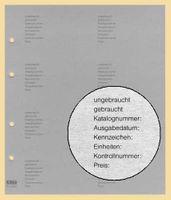 100x KOBRA-Zwischenblatt grau mit Druck Nr. G28D