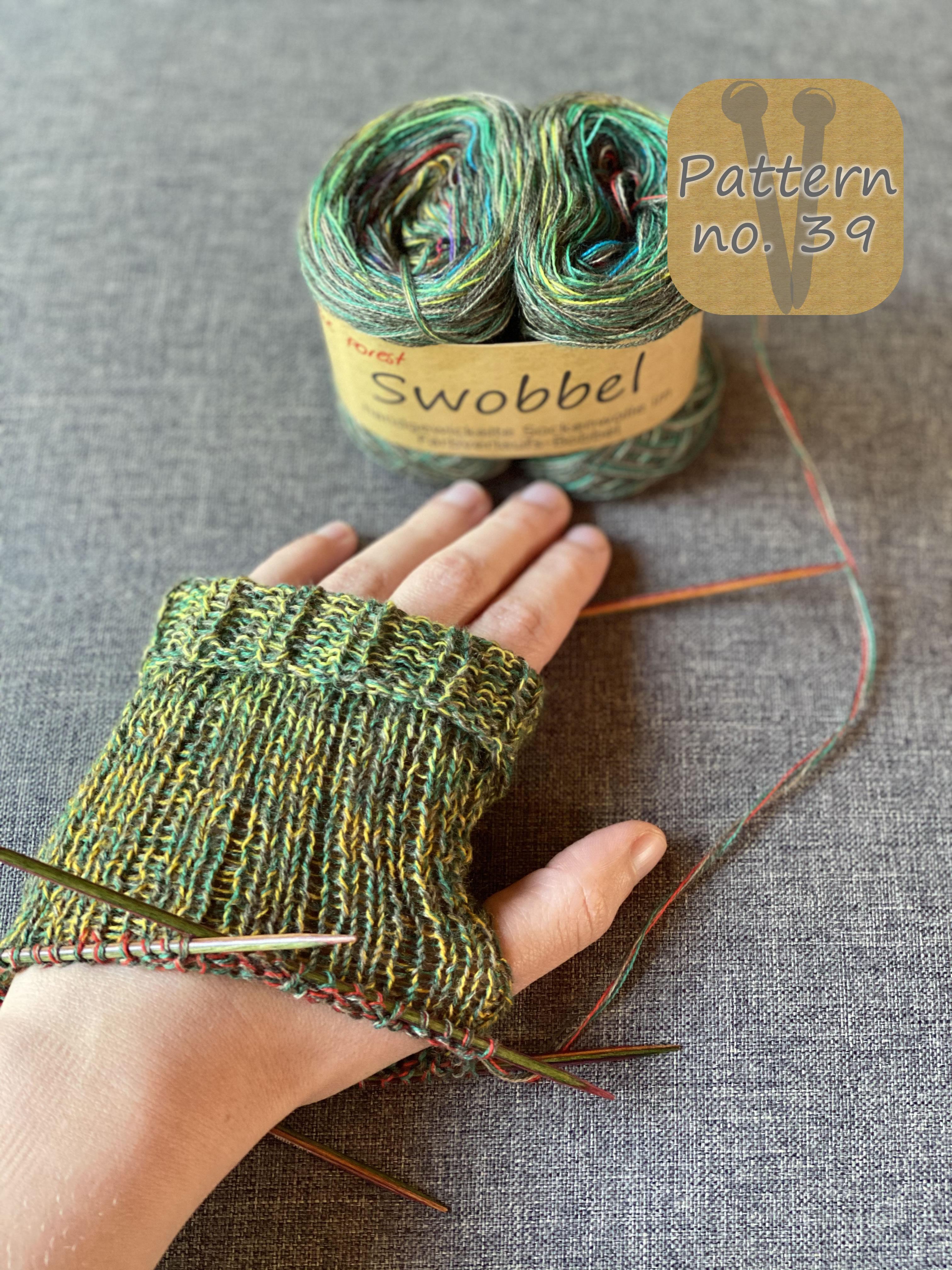 Swobbel Sockenwolle handgewickelter Farbverlaufs-Bobbel