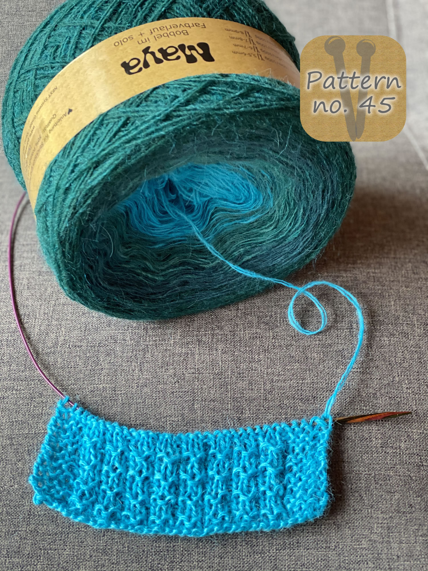 Maya Alpaca Wolle handgewickelt im Farbverlauf 941