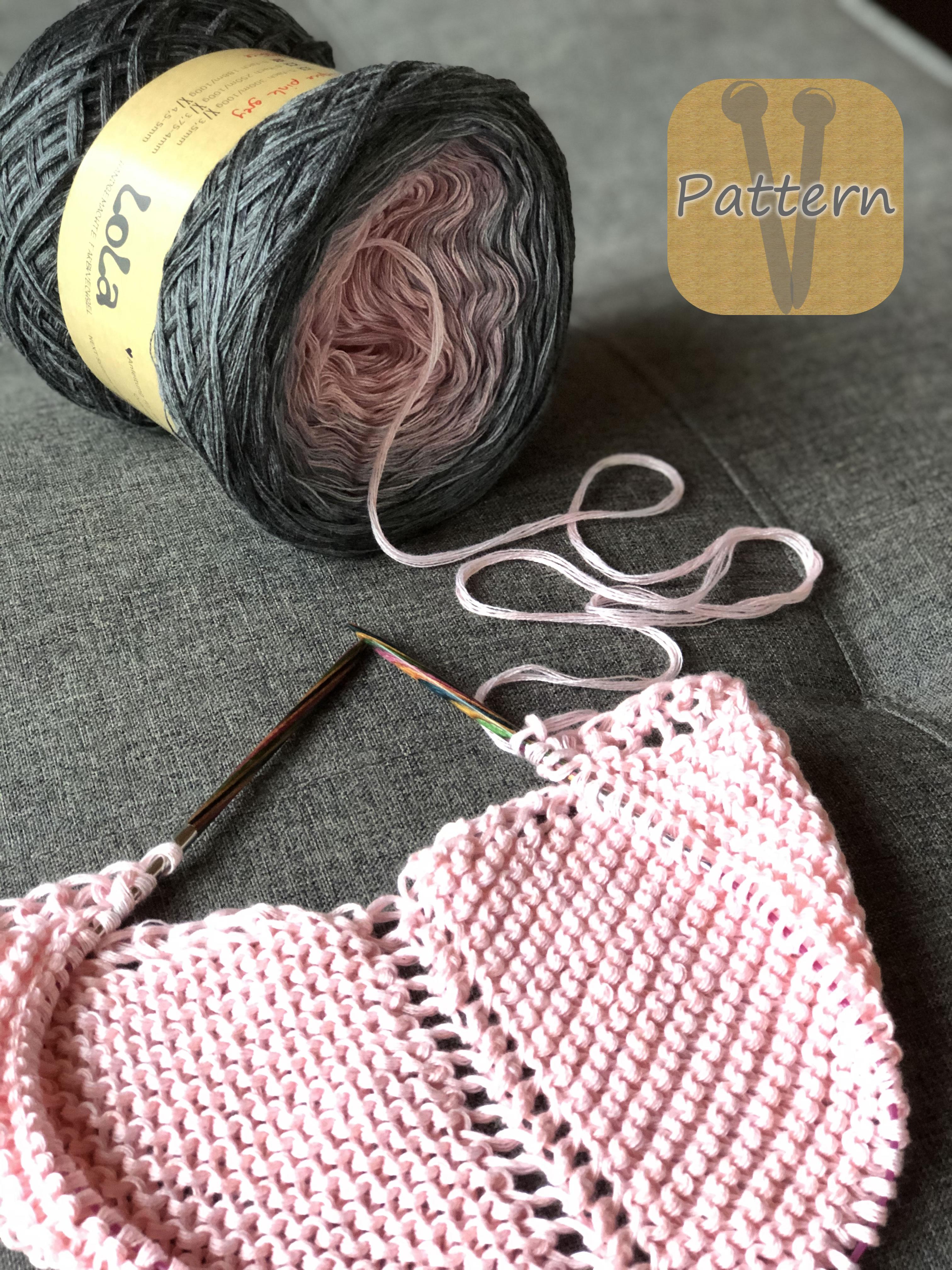 LoLa Farbverlaufsgarn Bobbel in rosa und grau