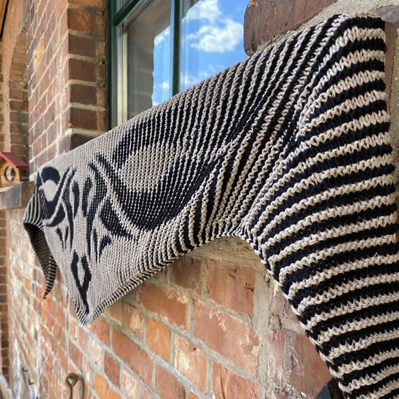 StrickSet inkl. PDF-Strickanleitung ReBobbel 70/30 recycelt: Illusion Tattoo