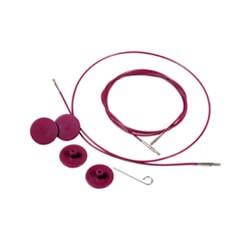 Knit Pro Seile für auswechselbare Nadelspitzen lila