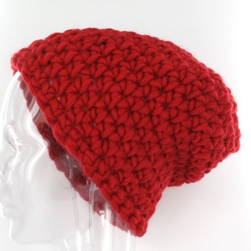 Häkelpackung cap.is Beanie solid in rot