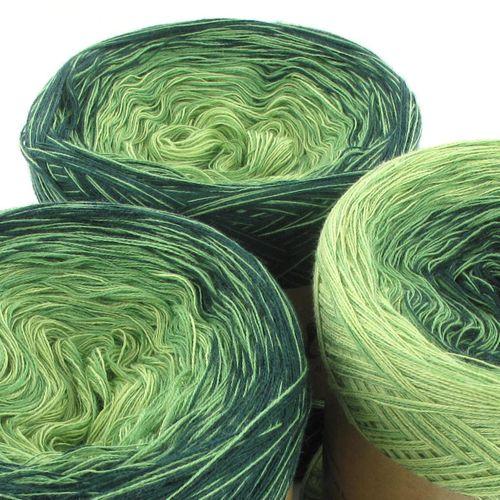 LoLa gradient příze trio zelená 3