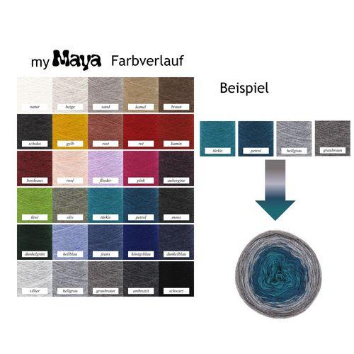 myMaya Farbverlauf handgemacht für Sie